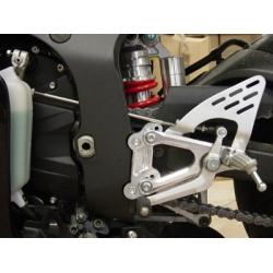 Rehausseur de platine repose pied d'origine à déport EURO RACING EVO YZF600R6 20