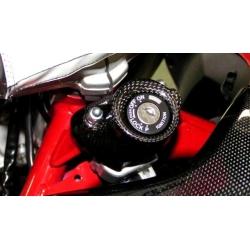 Couvre contacteur à clé Carbone Tamburini Ducati Hypermotard
