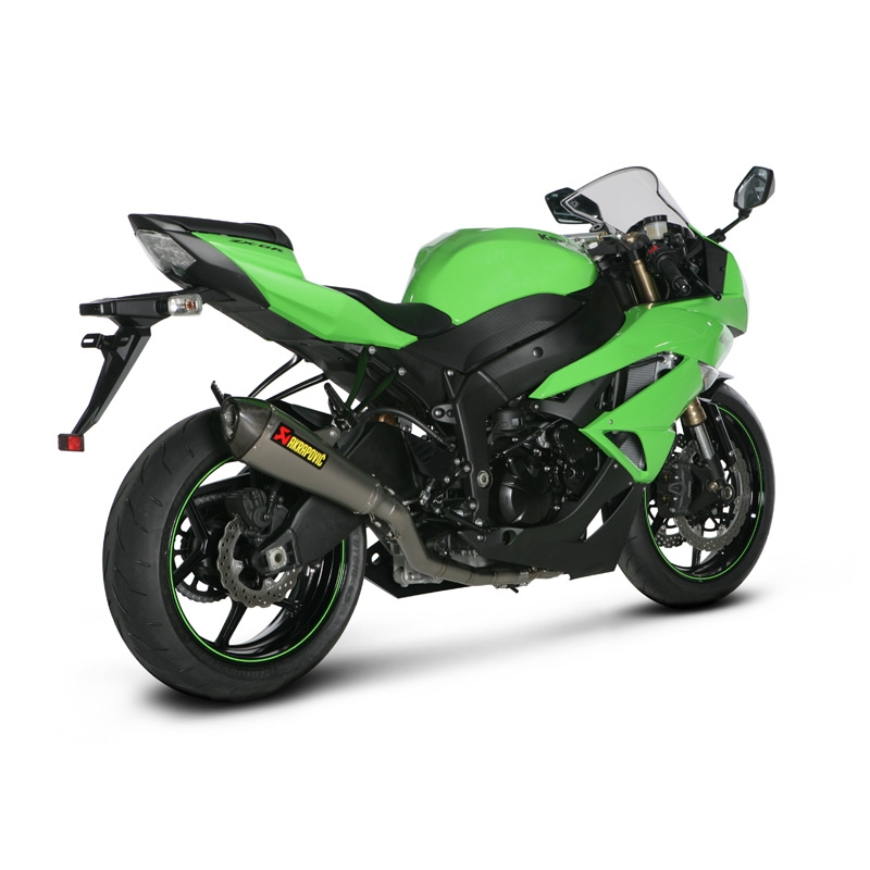 ligne complete titane akrapovic silencieux conique kawasaki zx6r 09 12. Black Bedroom Furniture Sets. Home Design Ideas