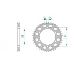 Couronne Aluminium AFAM 520 SUZUKI GSXR 600 / 750 2011-2016 L1-L6 GSXR 1000 2009-2018 K9-L8