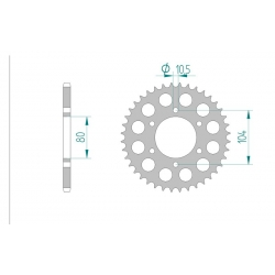 Couronne Aluminium AFAM 525 KAWASAKI ZX10 R 04-12 / Z1000 03-12
