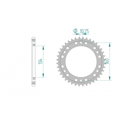 Couronne Aluminium AFAM 520 HONDA CBR600RR 01-12 / CBR1000RR 04-12 / SP1 / SP2