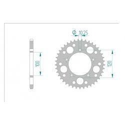 Couronne aluminium AFAM 520 APRILIA RSV1000R 98-09 / RSV4 09-16
