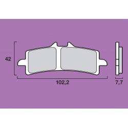 Plaquettes de frein avant racing BREMBO RC Racing Carbon RSV4 / 848 EVO / 1098 / 1198 / STREETFIGHTER 1098 / HYPERMOTARD 1100 /