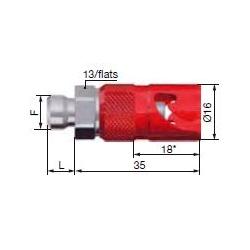 Coupleur rapide de frein mâle STAUBLI M10X100