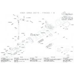 Pièces détachées commandes reculées LIGHTECH CBR 600 RR 07-12 FTRHO003