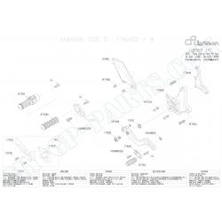 Pièces détachées commandes reculées LIGHTECH KAWASAKI Z1000 / Z1000SX 10 - 13 FT