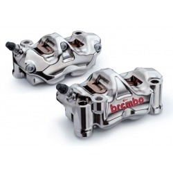 Paire d'étriers de frein radiaux taillés masse assemblés HPK BREMBO GP4 RX 32/32 108mm
