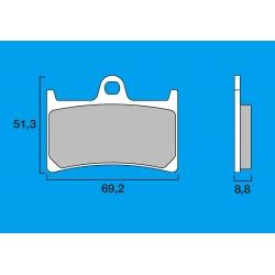 Plaquettes de frein avant Route / Piste BREMBO SC Sinter Composite YAMAHA FZ6 S2 / R6 99-12 / R7 / FZ8 / FZ1 / R1 98-06