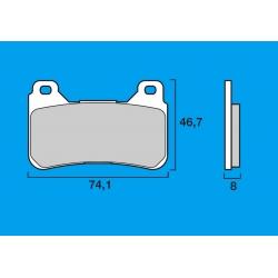 Plaquettes de frein avant Route / Piste BREMBO SC Sinter Composite HONDA CBR 600 RR 05-12 / CBR 1000 RR 04-12 / CB1000 R