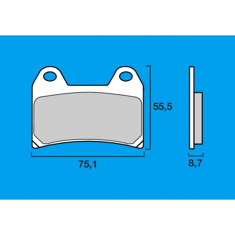 Plaquettes de frein avant Route / Piste BREMBO SC Sinter Composite 250 RS / RSV 1000 R / TUONO RSV4 / MONSTER 600 - 620 - 696 -