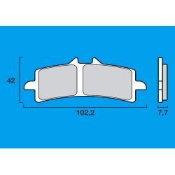 Plaquettes de frein avant Route / Piste BREMBO SC Sinter Composite RSV4 / 848 EVO / 1098 / 1198 / STREETFIGHTER 1098 / HYPERMOTA