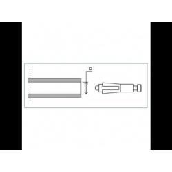 LP200B Adaptateur de montage PROGUARD SYSTEM RIZOMA pour guidon d'origine HONDA / SUZUKI