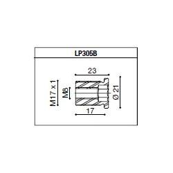 LP305B Adaptateur de montage PROGUARD SYSTEM RIZOMA pour guidon d'origine KAWASAKI