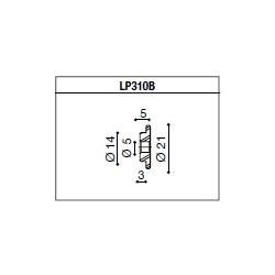 LP310B Adaptateur de montage PROGUARD SYSTEM RIZOMA pour guidon d'origine TRIUMPH SPEED TRIPLE 1050 / STREET TRIPLE / R