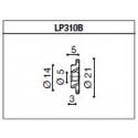 LP310B Adaptateur de montage PROGUARD SYSTEM RIZOMA pour guidon d'origine TRIUMPH SPEED TRIPLE 1050 11- / STREET TRIPLE / R