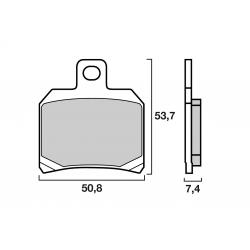 Plaquette de frein arrière BREMBO SINTER DUCATI 748 / 848 / 999 / 1098 / 1198