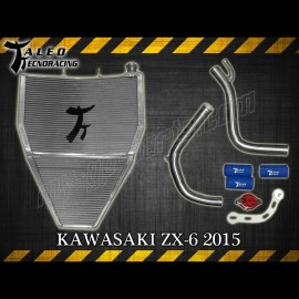 Radiateur d'eau grand format Taleo Tecnoracing ZX6R 09-15