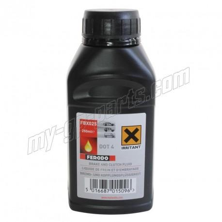 Liquide de frein FERODO DOT4 250 ml