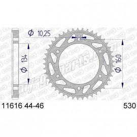 Couronne Aluminium AFAM 530 HONDA CBR600RR 01-12 / CBR1000RR 04-12 / SP1 / SP2