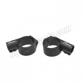 Bracelets 10° diamètre 50 / 51/ 52 / 53 / 55 avec décalage +20 mm pour demi guidons LIGHTECH