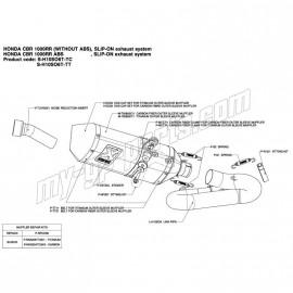 Kit réparation de silencieux titane ou carbone Akrapovic CBR1000RR 2008-2011