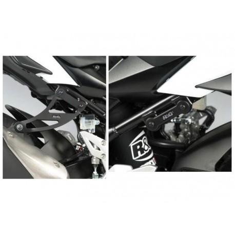 Support de silencieux R&G Racing GSR750 11-15 avec cache orifice