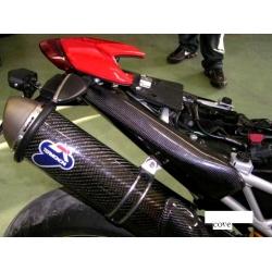 Carénages latéraux arrière pour mono silencieux Carbone Tamburini Ducati Hypermotard