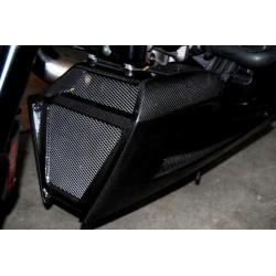 Sabot moteur (3pièces) carbone Tamburini Ducati Diavel