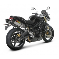 Silencieux adaptable SLIP-ON Akrapovic pour TRIUMPH STREET TRIPLE 675 (2008-2012