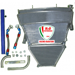 Radiateur d'eau et d'huile grande capacité H2O performance Suzuki GSXR1000 K5/K6