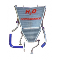Radiateur d'eau et d'huile grande capacité H2O performance Suzuki GSXR1000 K7/K8