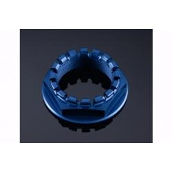 Écrou d'axe couronne en aluminium anodisé taillé masse M33 x 1,5 LIGHTECH