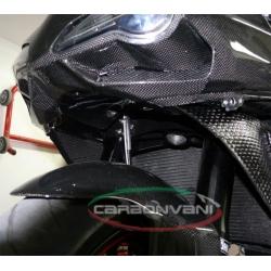 Déflecteur de radiateur carbone SBK CARBONVANI Ducati 848 / 1098 /1198