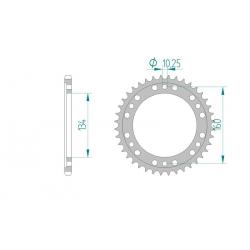 Couronne Aluminium AFAM 525 HONDA CBR600RR 01-12 / CBR1000RR 04-12 / SP1 / SP2