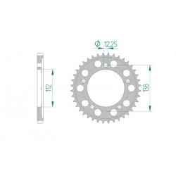 Couronne Aluminium AFAM 520 HONDA CBR600RR 97-00 / HORNET 600 98-12 / VTR1000F 9