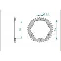 Couronne aluminium AFAM 520 pour kit de conversion porte couronne 1098 / 1198 / 1199 / 1299