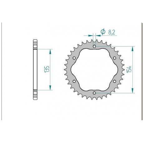 Couronne aluminium AFAM 525 pour kit de conversion porte couronne 1098 / 1198 / 1199 / 1299