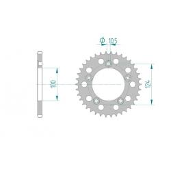 Couronne Aluminium AFAM 520 DUCATI 749 / 999