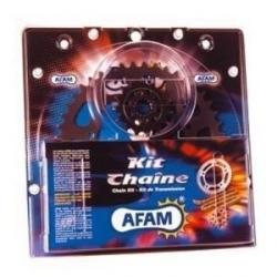 Kit chaîne acier moto AFAM KAWASAKI ZX6R B1,B2 03-04 / ZX6RR M1