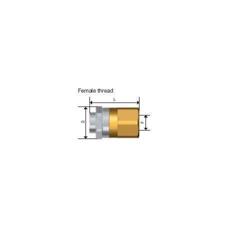 Raccord rapide mâle SPM 08 STAUBLI pour ravitaillement d'huile