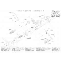 Pièces détachées commandes reculées LIGHTECH R6 08 - 12 FTRYA002