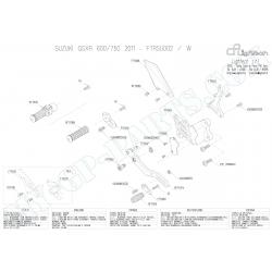 Pièces détachées commandes reculées LIGHTECH GSXR 600 / 750 L1 - L3