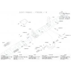 Pièces détachées commandes reculées LIGHTECH DUCATI 1199 PANIGALE vitesses inverséees FTRDU006