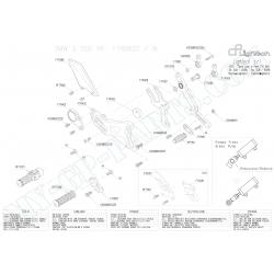 Pièces détachées commandes reculées LIGHTECH BMW S1000RR VITESSES NORMALES FTRBM001