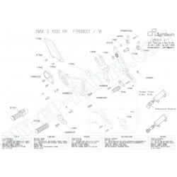Pièces détachées commandes reculées LIGHTECH BMW S1000RR VITESSES INVERSEES FTRBM002