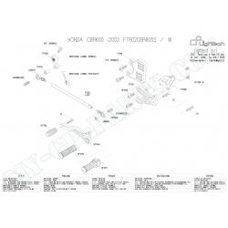 Pièces détachées commandes reculées LIGHTECH HONDA CBR 600 RR 03-06 FTR02CBR605S