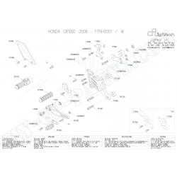 Pièces détachées commandes reculées LIGHTECH HONDA CB 1000 R 08-12 FTRHO001
