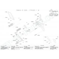 Pièces détachées commandes reculées LIGHTECH TRIUMPH DAYTONA / STREET TRIPLE 675 / 675R VITESSES NORMALES