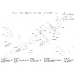 Pièces détachées commandes reculées LIGHTECH YAMAHA FZ1 / FZ8 06 - 12 FTRYA004